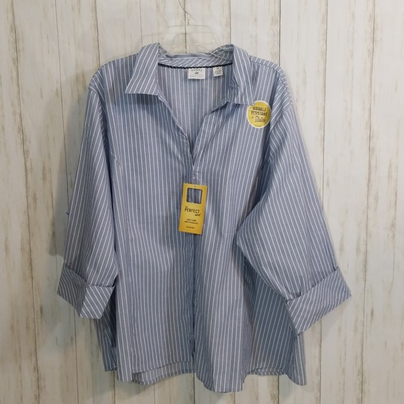 aac0579d Riders by Lee Tops | Riders Lee Easy Care Button Down Blouse Size 4x ...